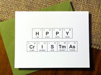 chem christmas card
